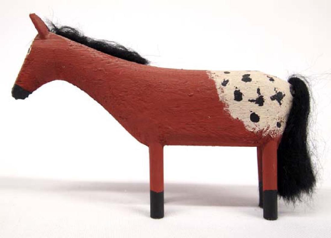 Navajo Carved Wood Appaloosa Horse by Les Herbert - 2