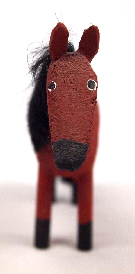 Navajo Carved Wood Appaloosa Horse by Les Herbert - 3