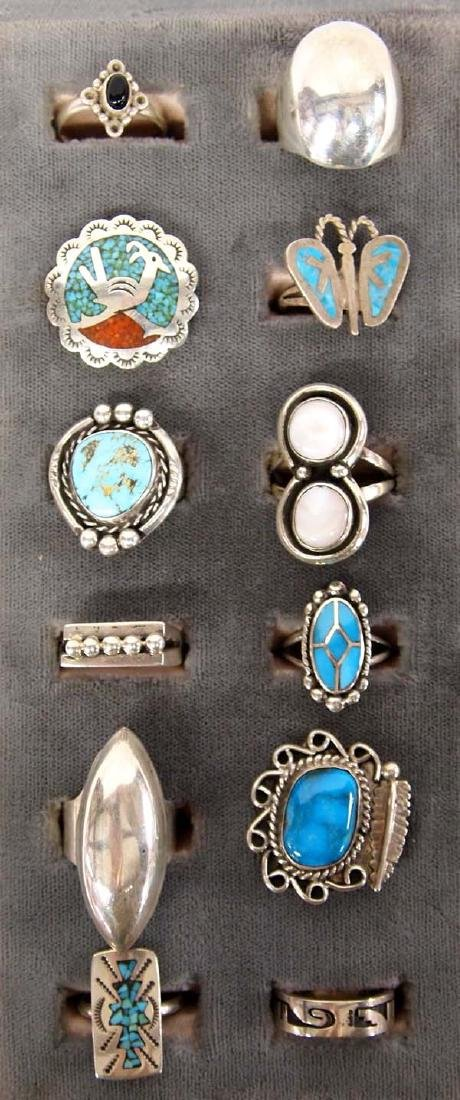 Sterling Silver Rings, Mostly Native American