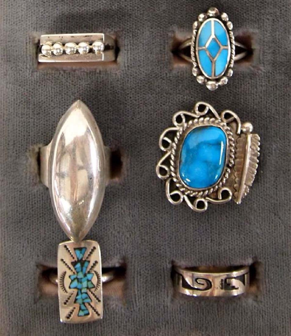 Sterling Silver Rings, Mostly Native American - 2