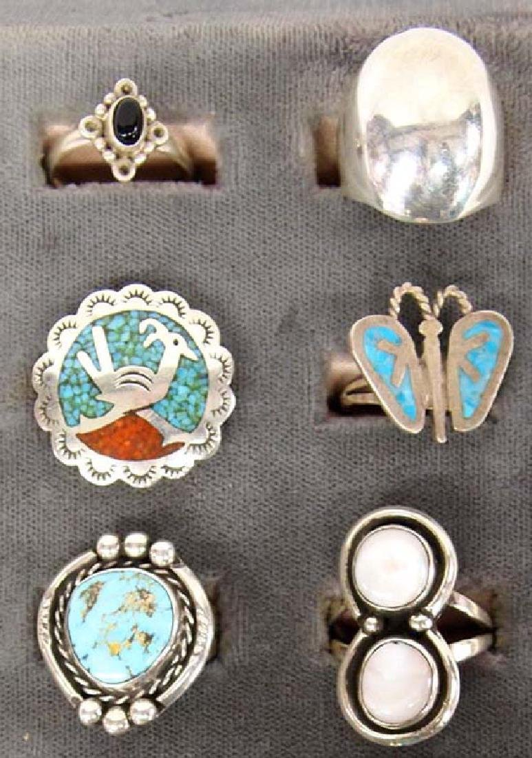 Sterling Silver Rings, Mostly Native American - 3