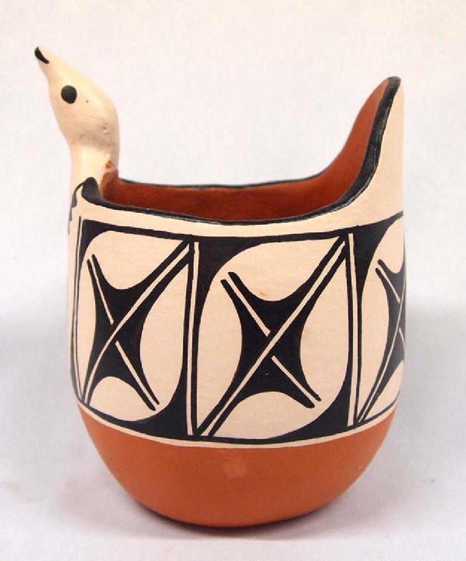 Santo Domingo Pottery Bird Pot by Anna M.T. Lovato