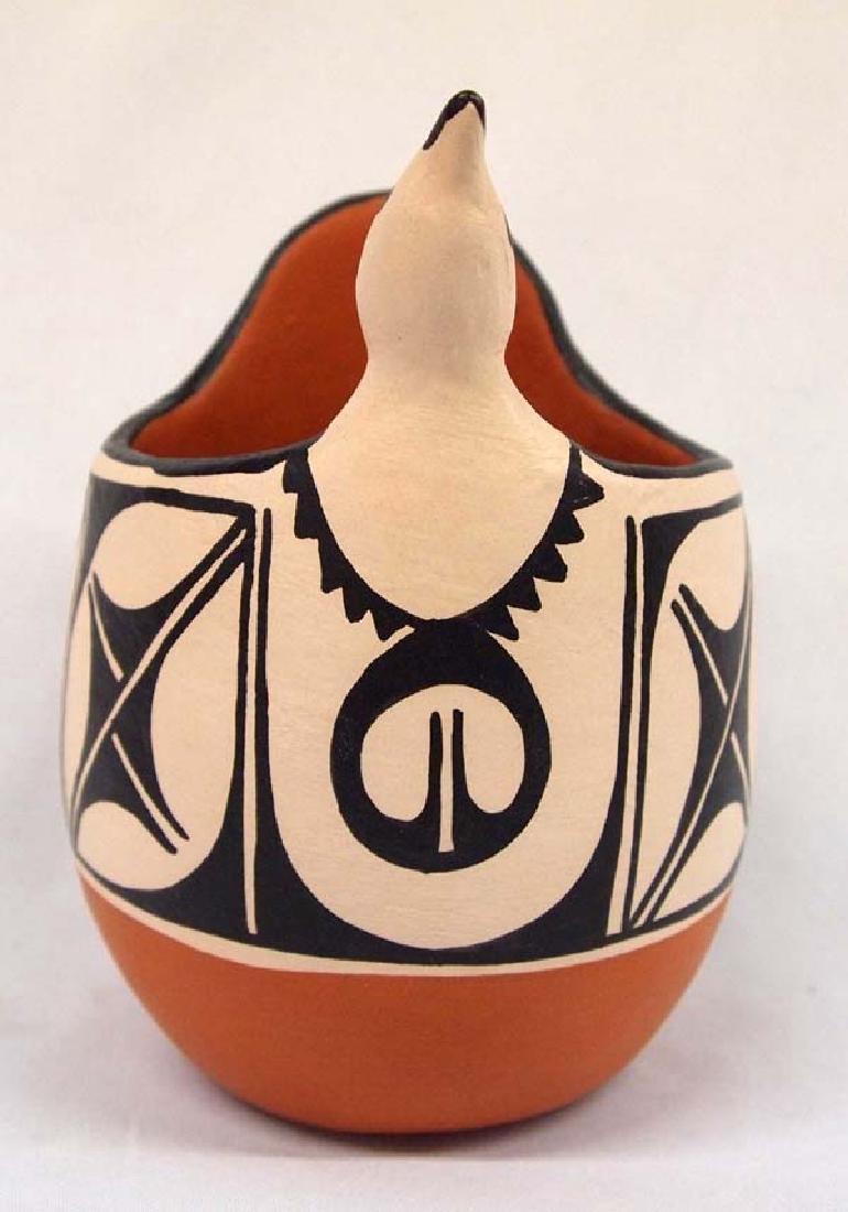 Santo Domingo Pottery Bird Pot by Anna M.T. Lovato - 2