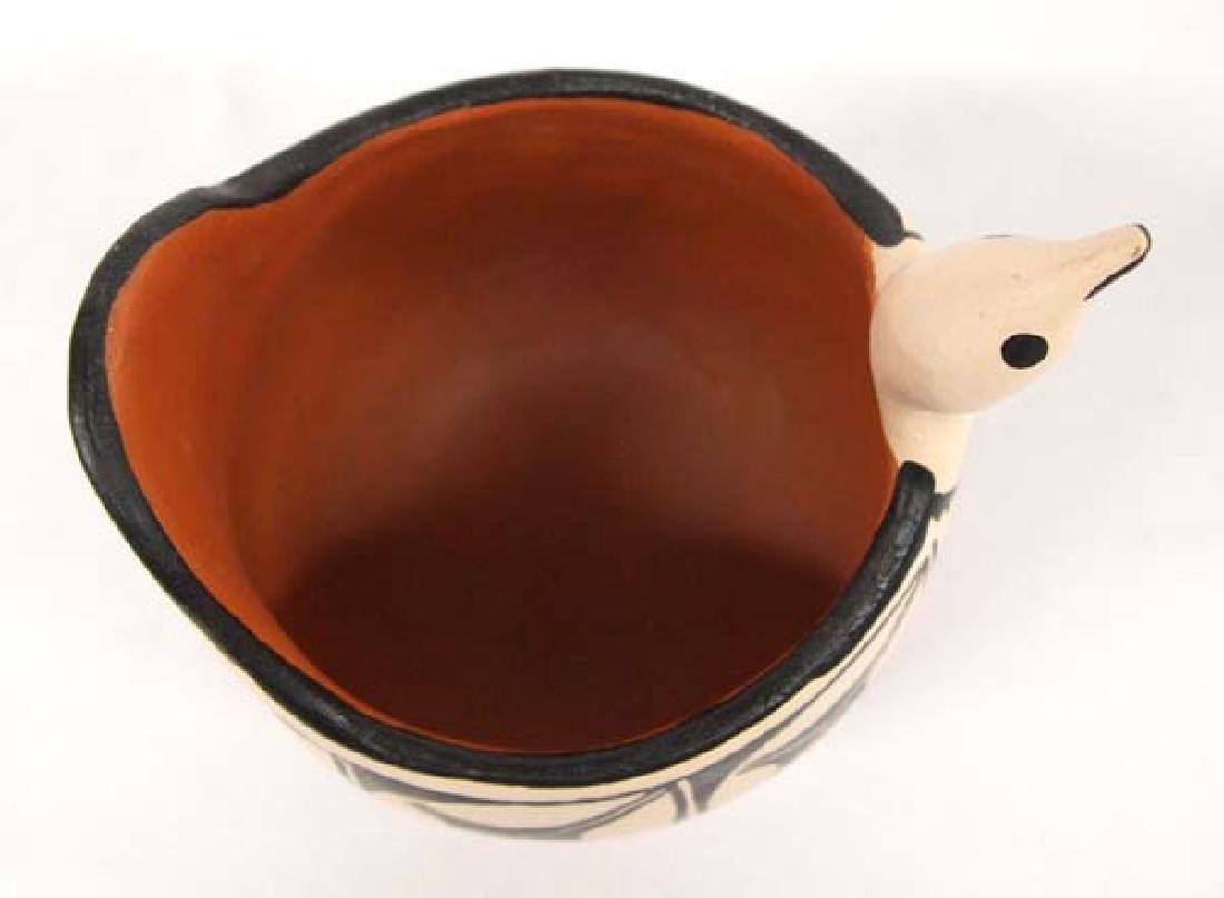 Santo Domingo Pottery Bird Pot by Anna M.T. Lovato - 3