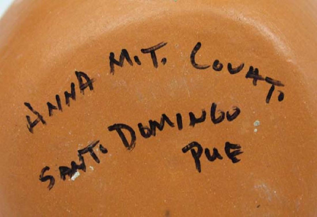 Santo Domingo Pottery Bird Pot by Anna M.T. Lovato - 4