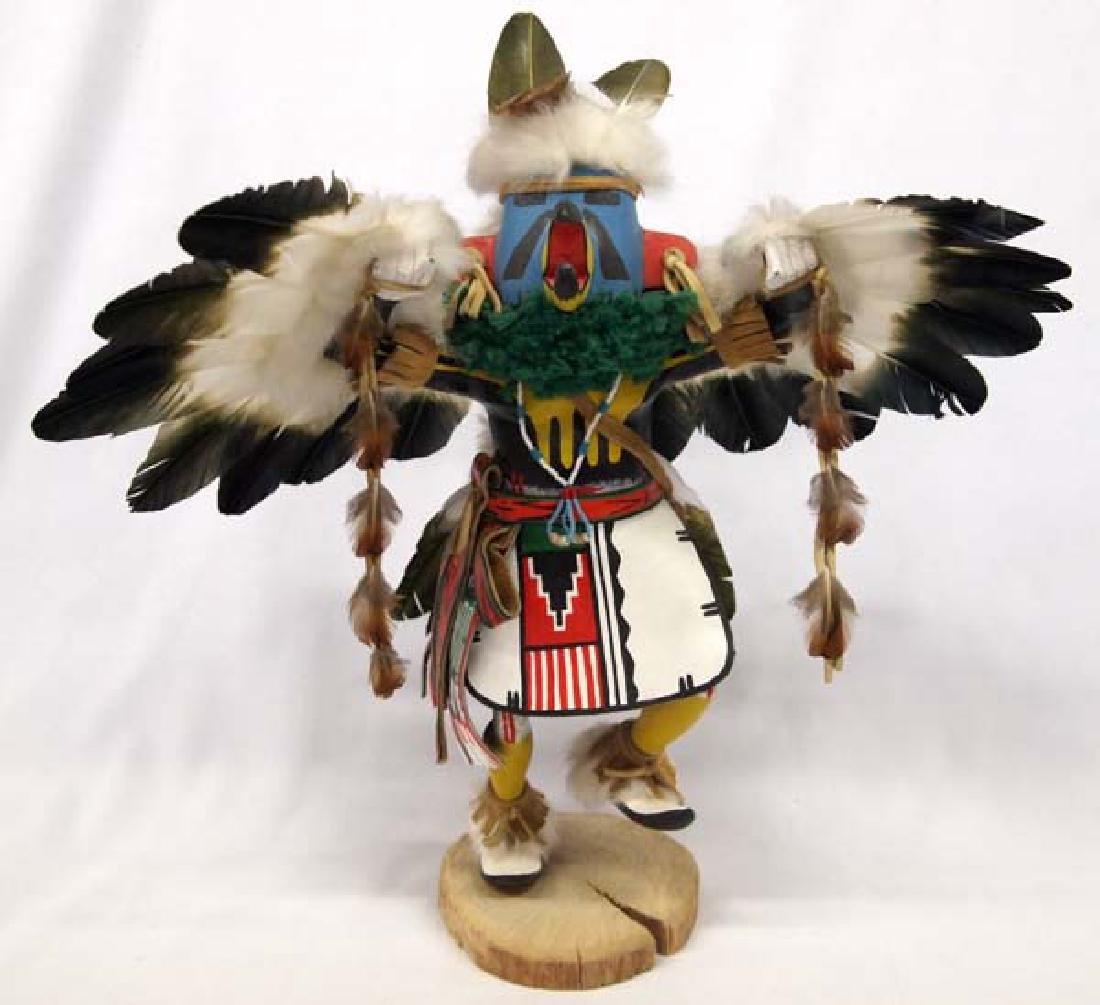 Large Hopi Carved Wood Eagle Kachina by S. Walker