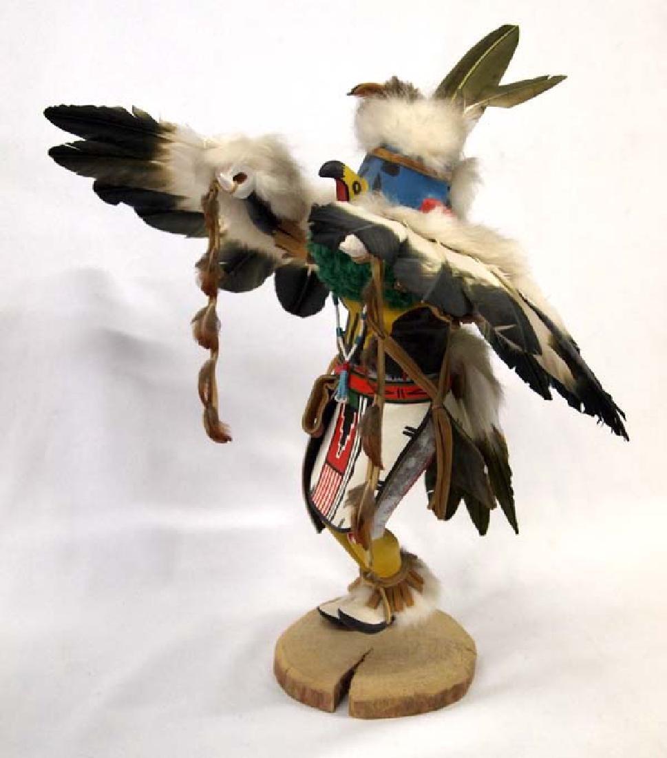 Large Hopi Carved Wood Eagle Kachina by S. Walker - 2