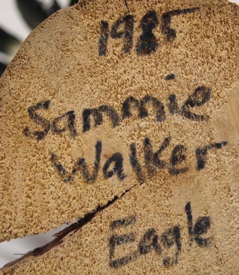 Large Hopi Carved Wood Eagle Kachina by S. Walker - 5