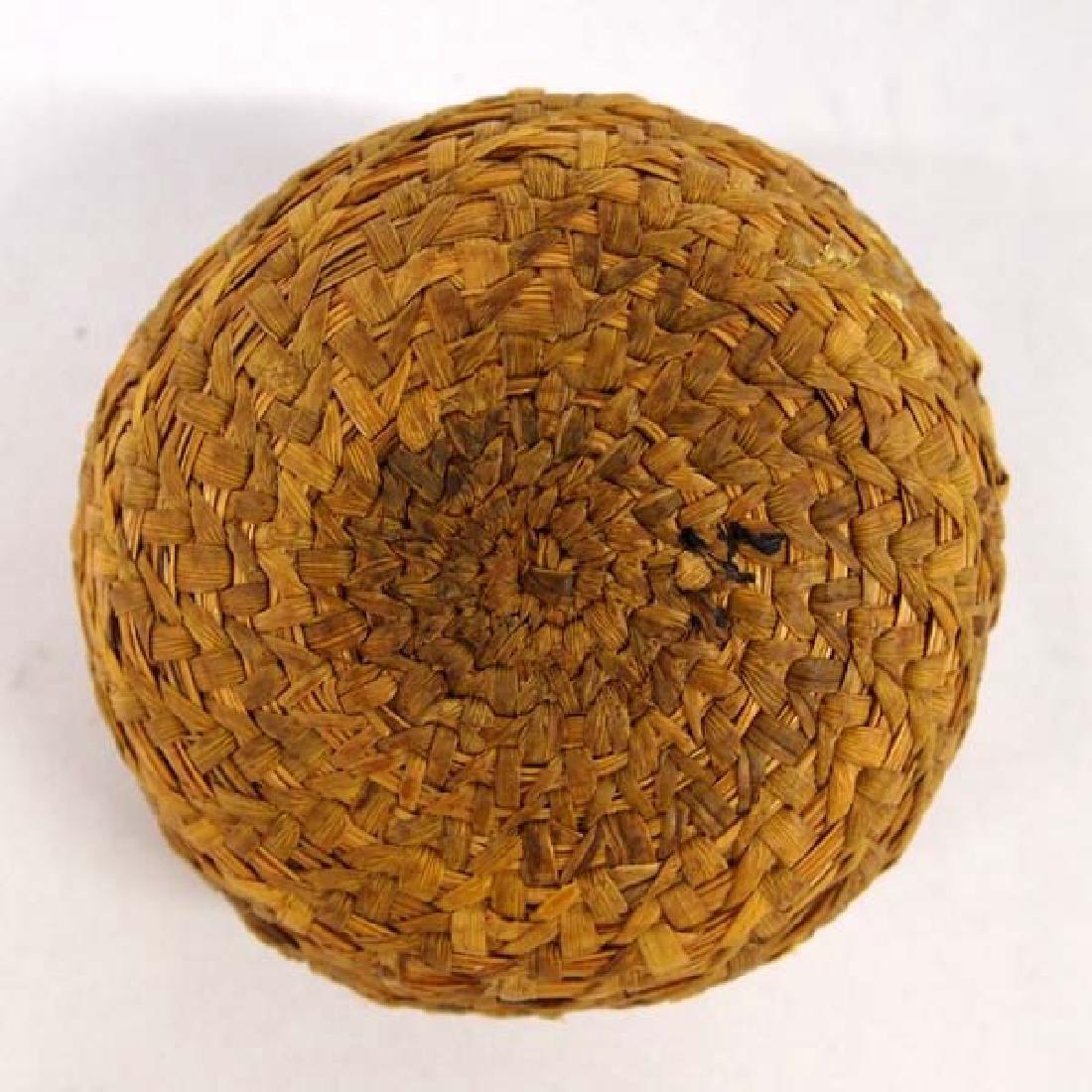 Native American Coushatta Lidded Basket - 4
