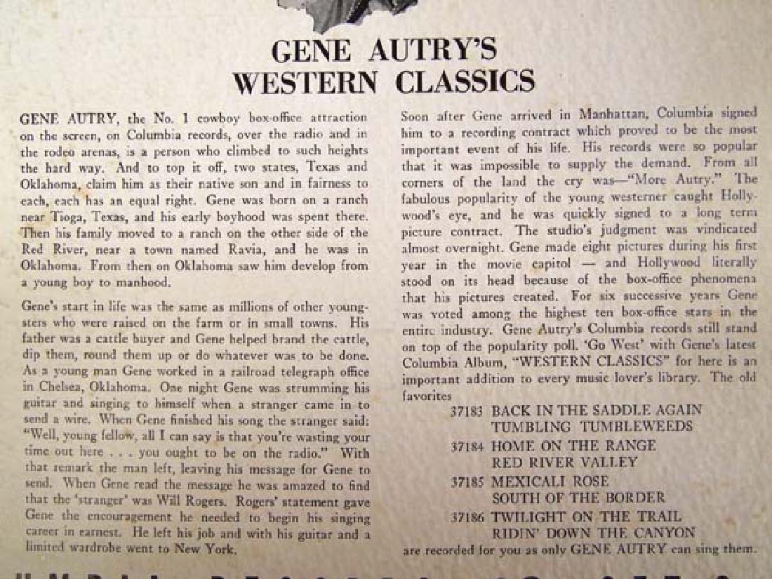 Vintage Gene Autry's Western Classics, 4 Album Set - 2