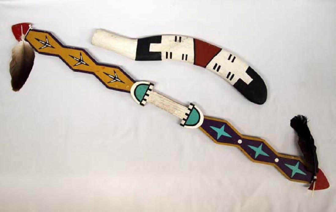 Navajo Carved Wood Rabbit Stick and Dance Wand - 2
