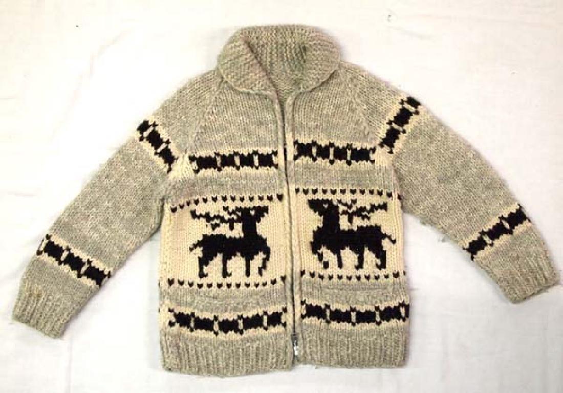 Northwest Coast Cowichan Hand Made Wool Sweater