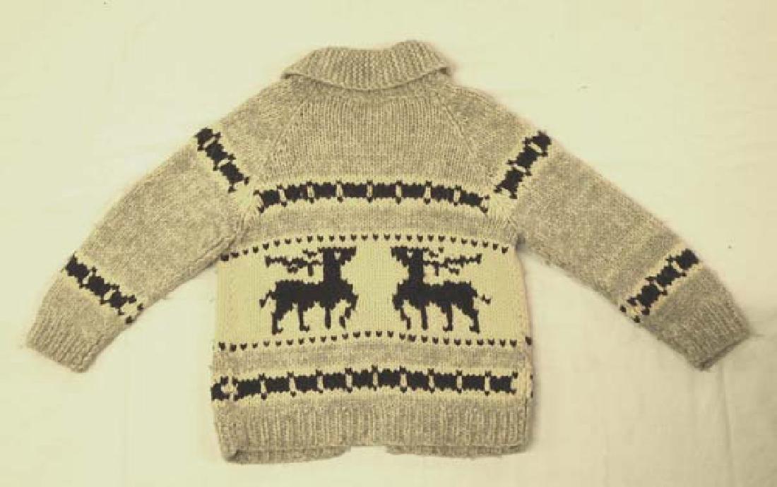 Northwest Coast Cowichan Hand Made Wool Sweater - 2