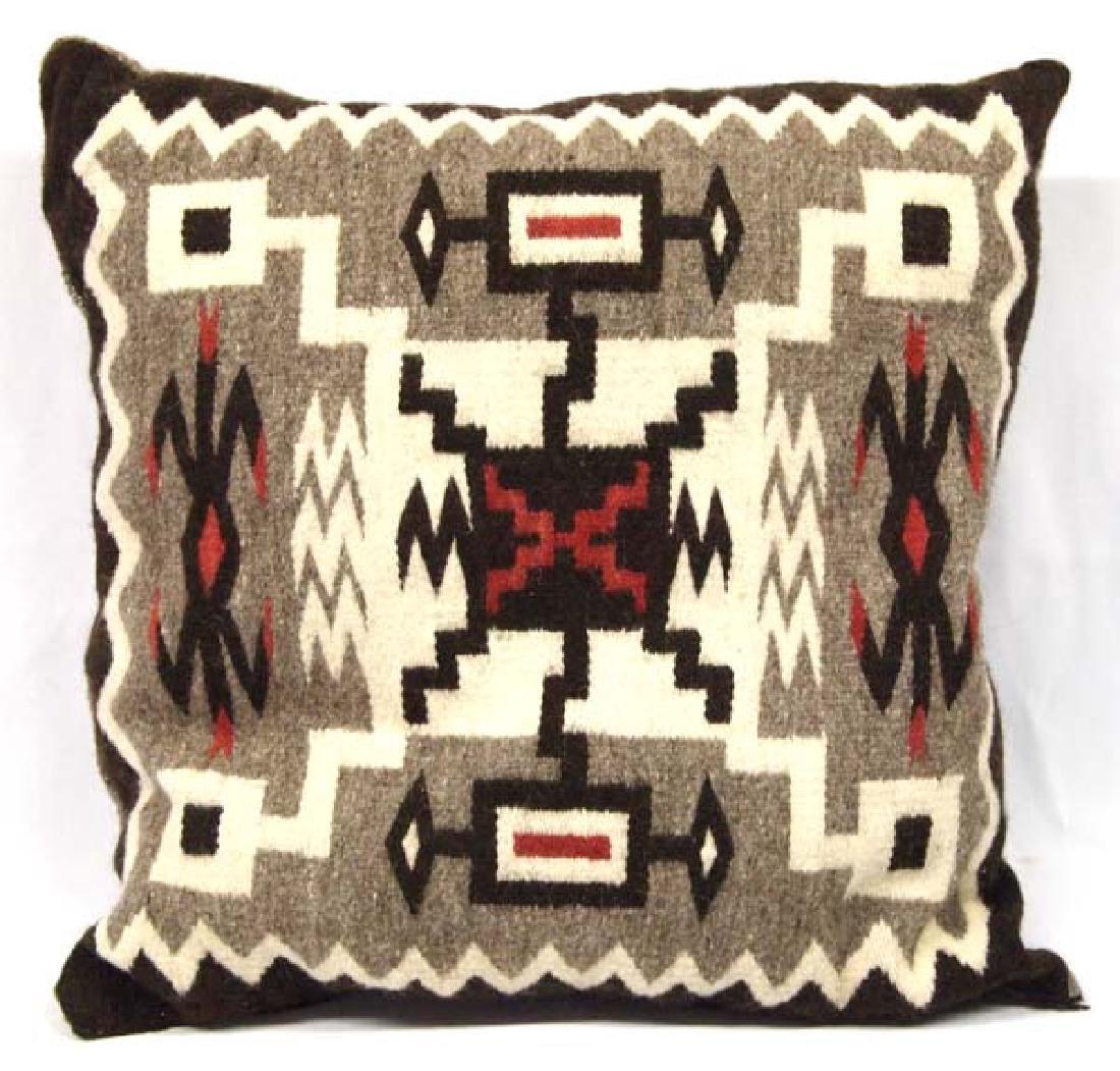 Hand Woven Storm Pattern Wool Pillow
