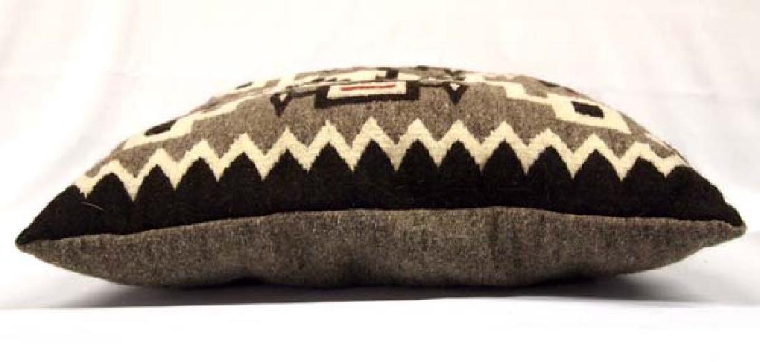 Hand Woven Storm Pattern Wool Pillow - 3