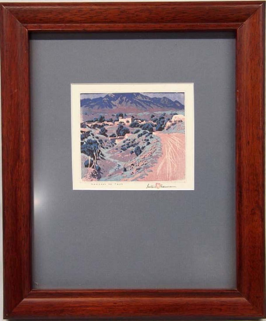 Gustave Baumann Print Ranchos de Taos