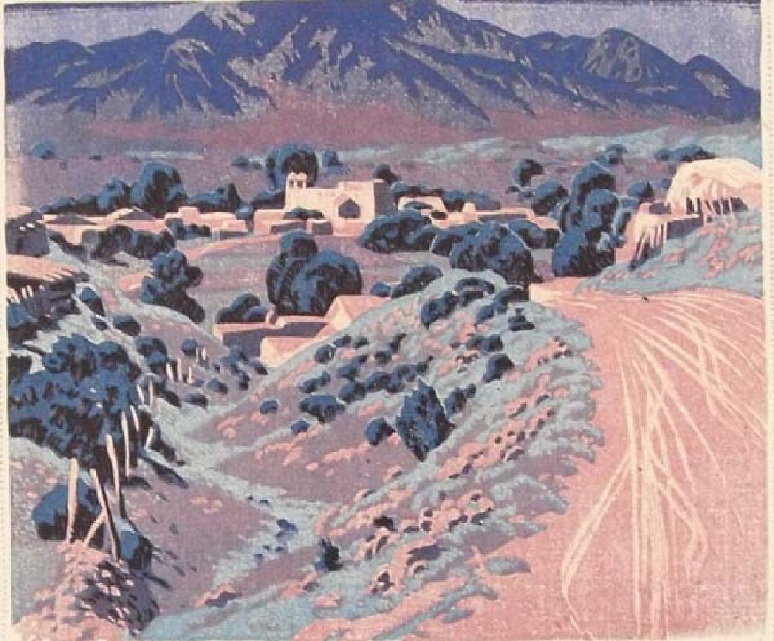 Gustave Baumann Print Ranchos de Taos - 3