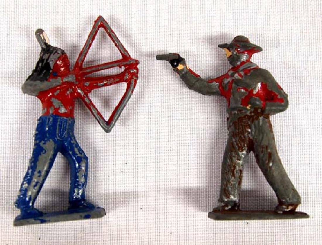 Antique Cast Lead Cowboy and Indian Toy Figure