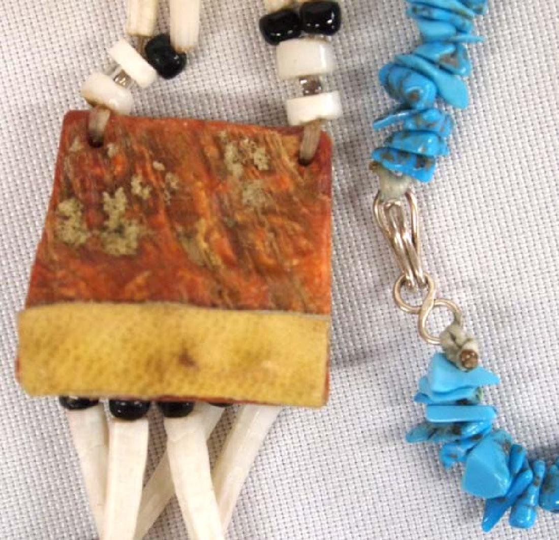 Pair of Native American Necklaces - 3