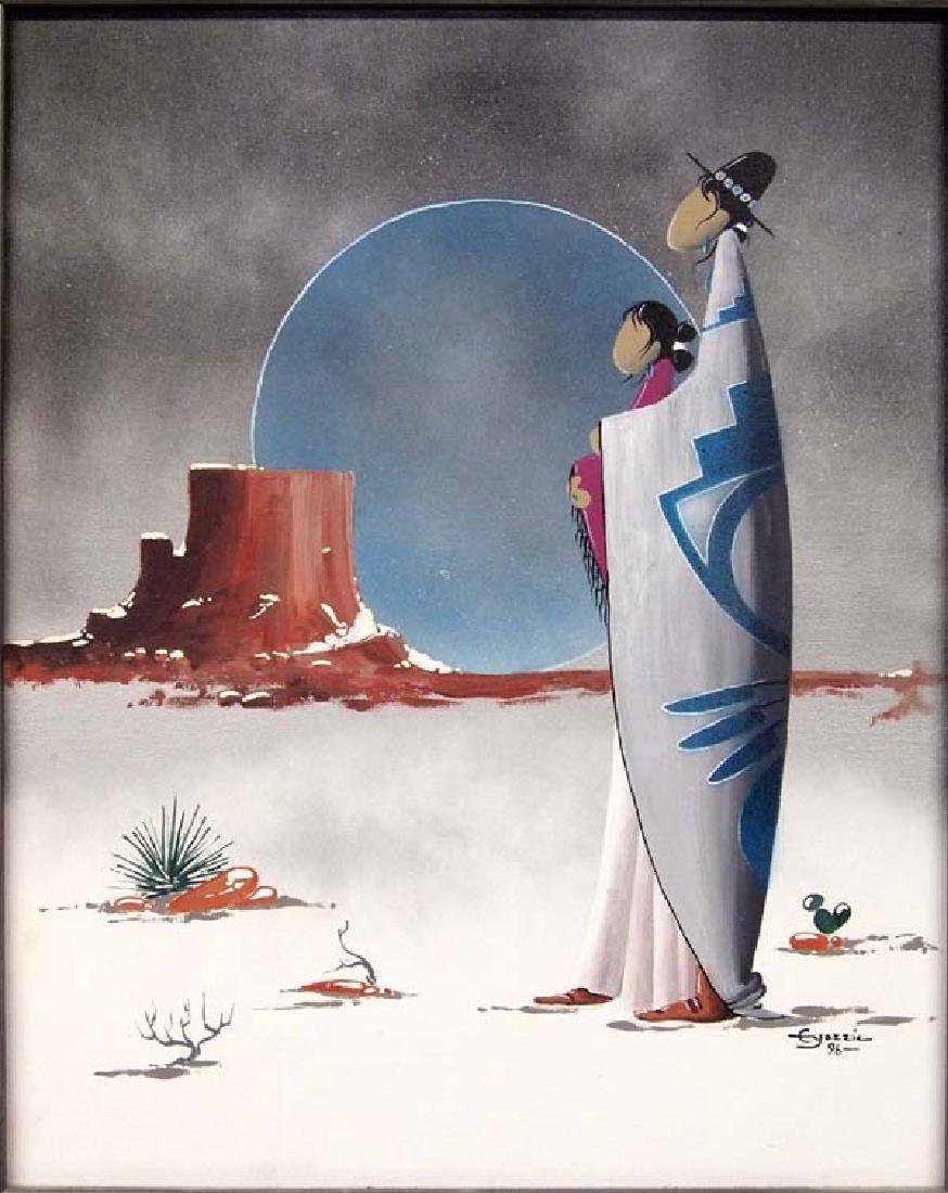 Original Acrylic Painting by Edison B. Yazzie - 2
