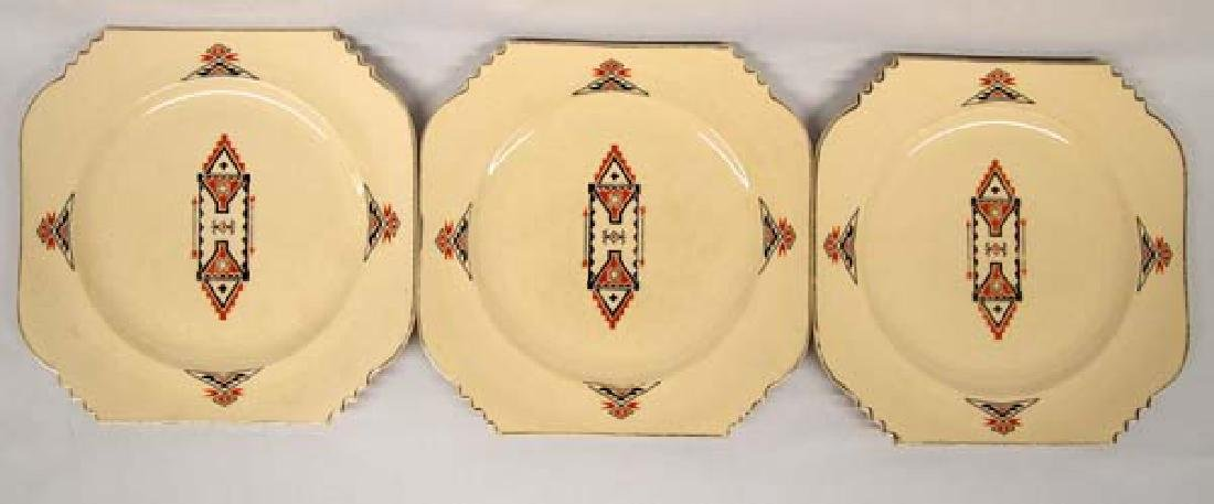 3 Vintage Leigh Potters She-Kay-Ah Pattern Plates