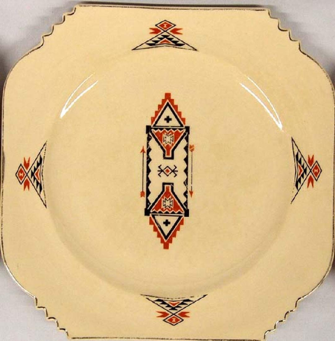3 Vintage Leigh Potters She-Kay-Ah Pattern Plates - 2