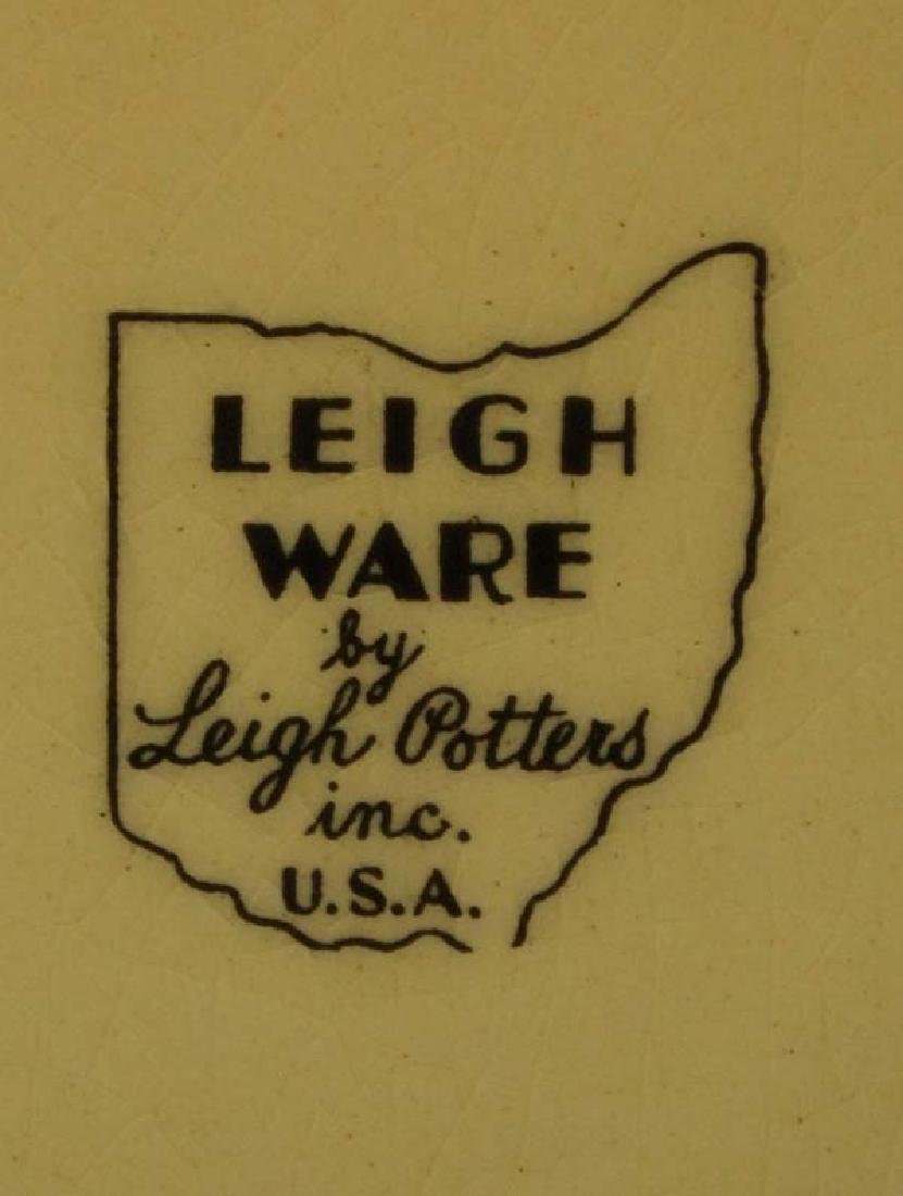 3 Vintage Leigh Potters She-Kay-Ah Pattern Plates - 3
