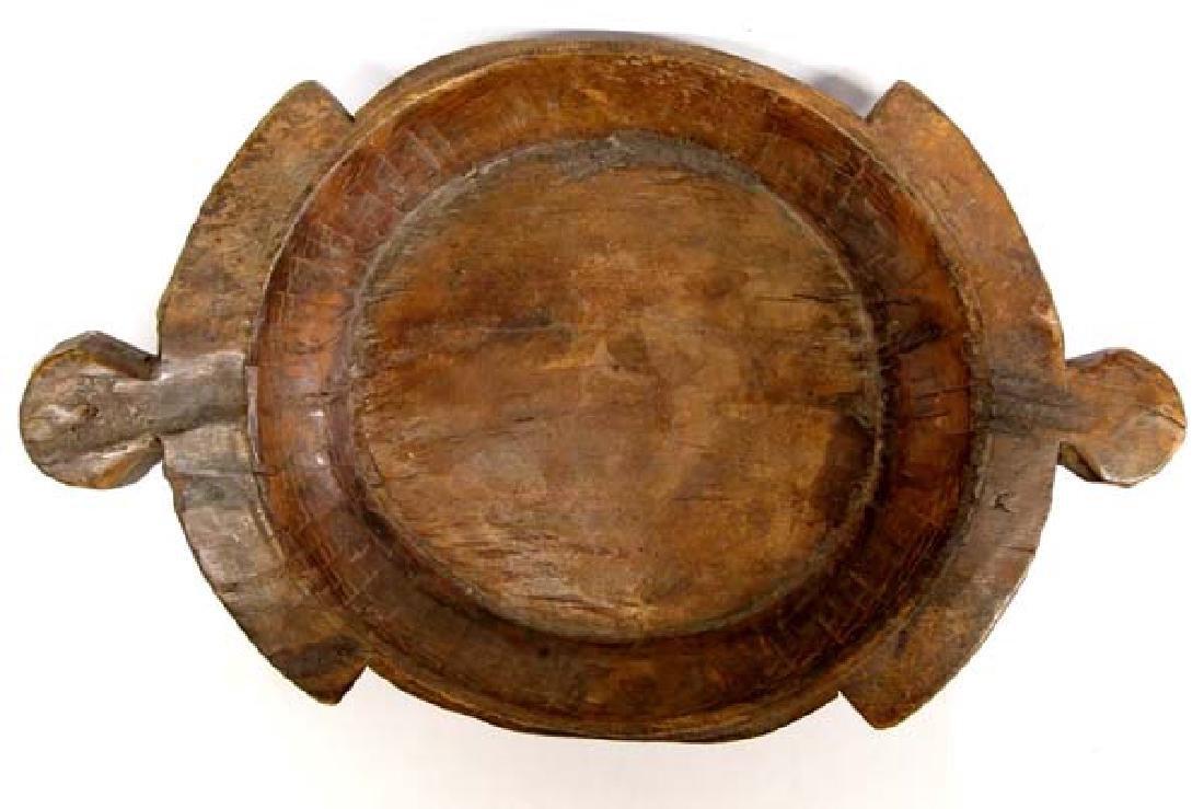 One of a Kind Carved Teak Wood Islands Feast Bowl