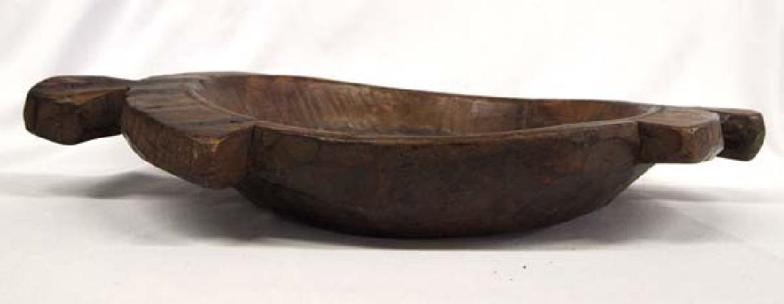 One of a Kind Carved Teak Wood Islands Feast Bowl - 2