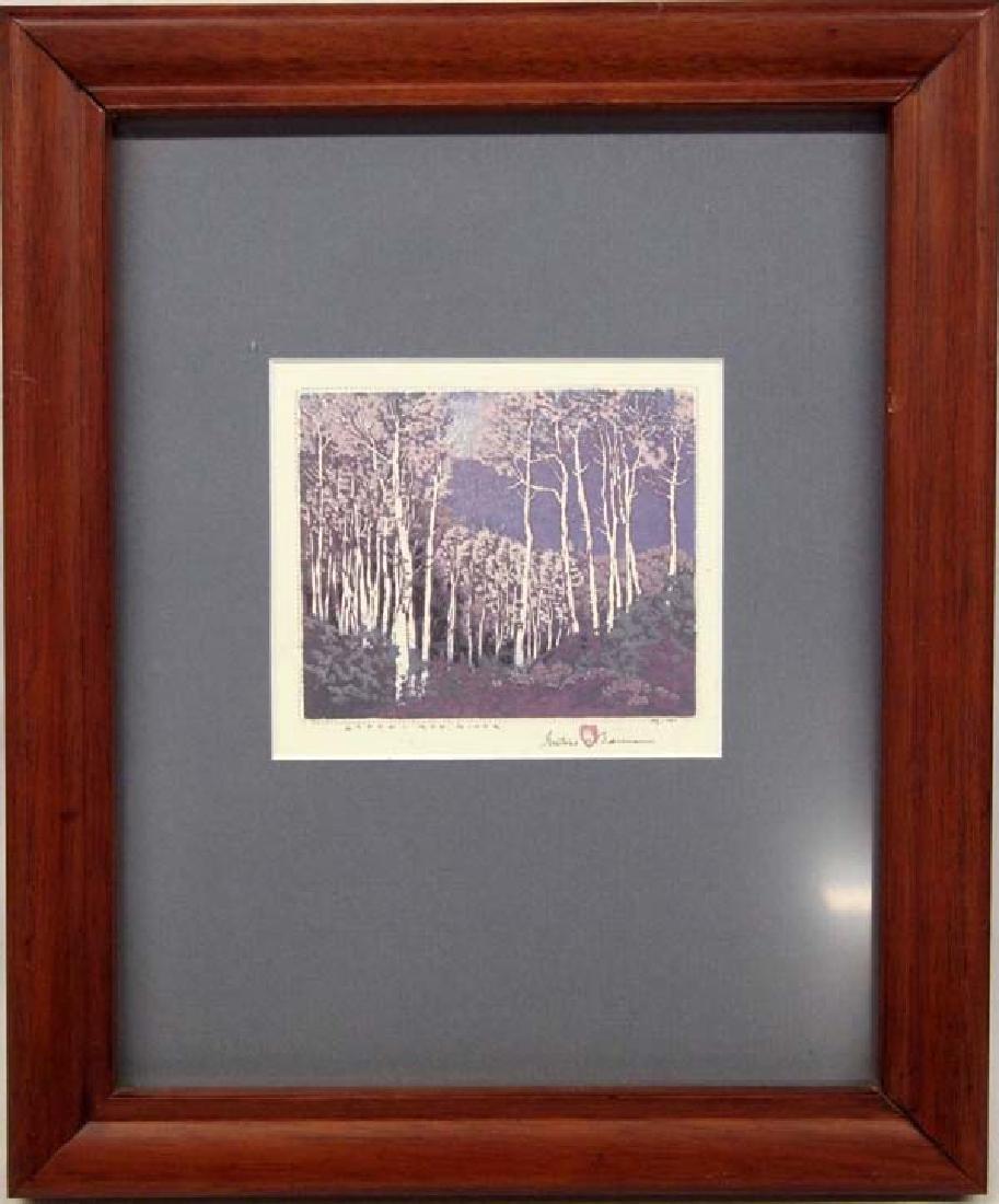 Gustave Baumann Aspen Red River Print