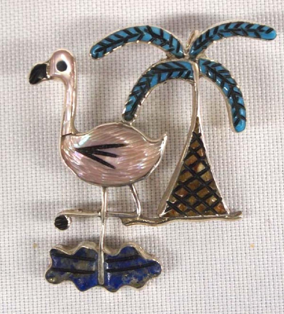 Zuni Stone to Stone Inlay Pin Pendant by Comosona