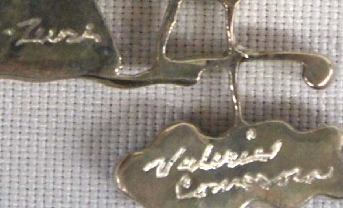 Zuni Stone to Stone Inlay Pin Pendant by Comosona - 3