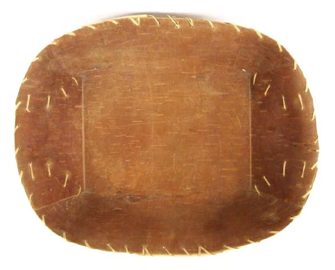 2 Native American Chippewa Birch Bark Baskets - 2