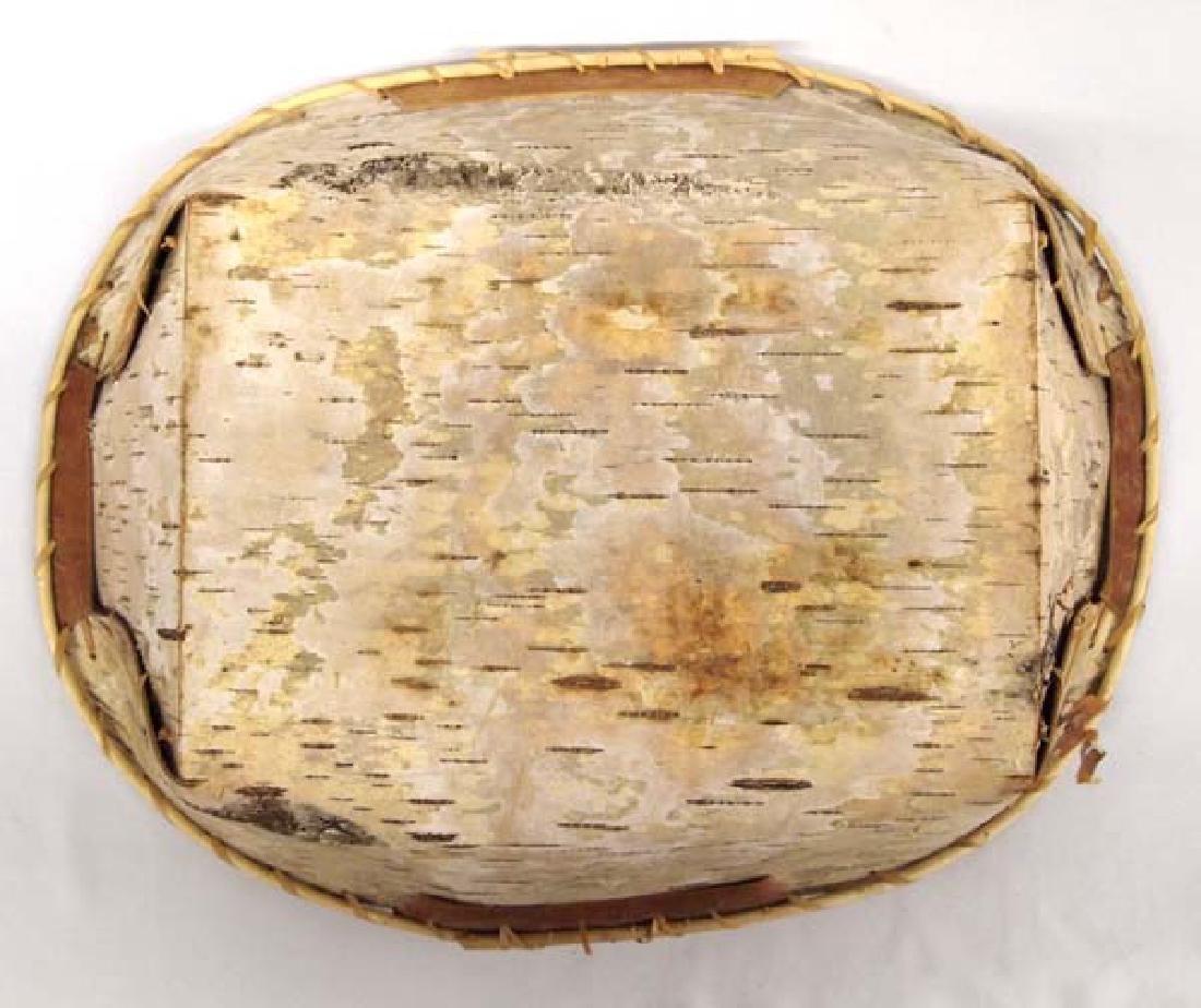 2 Native American Chippewa Birch Bark Baskets - 3