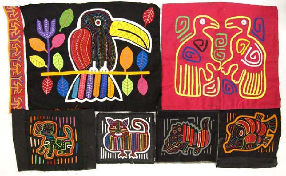 Vintage San Blas Islands Kuna Indian Mola Textiles