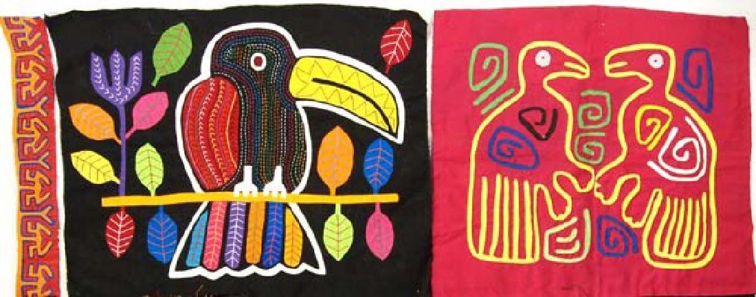 Vintage San Blas Islands Kuna Indian Mola Textiles - 3