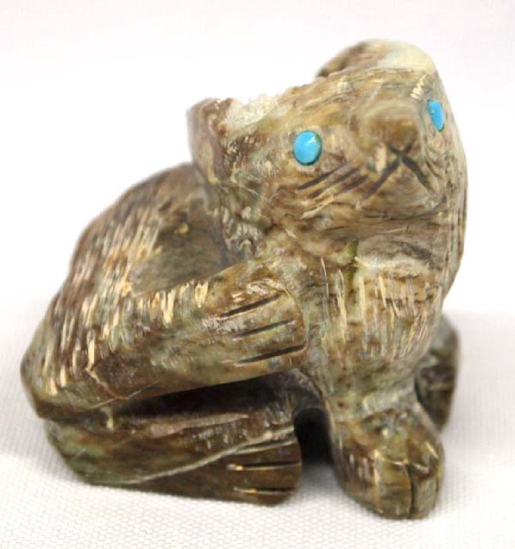 Native American Zuni Carved Stone Fox Fetish