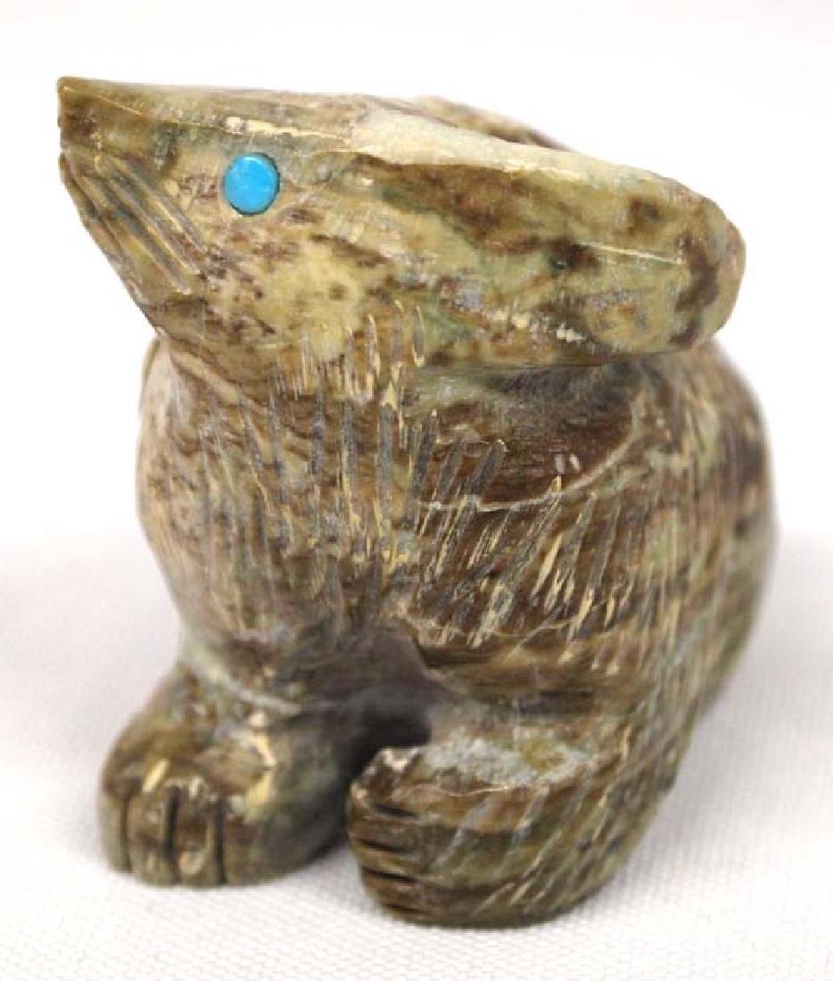 Native American Zuni Carved Stone Fox Fetish - 2