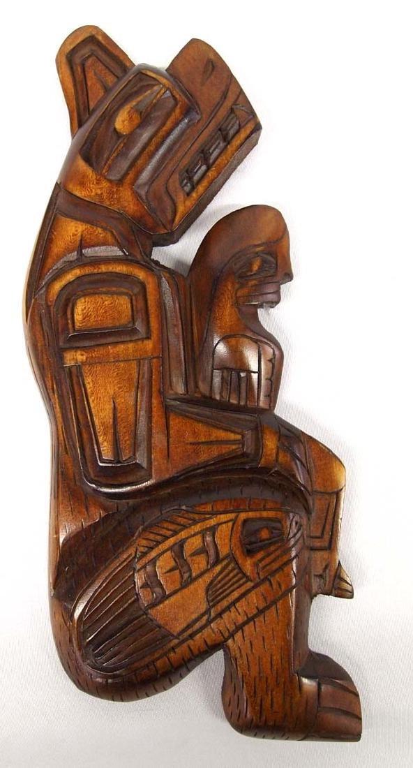 Northwest Coast Carved Cedar Plaque by Mel Good