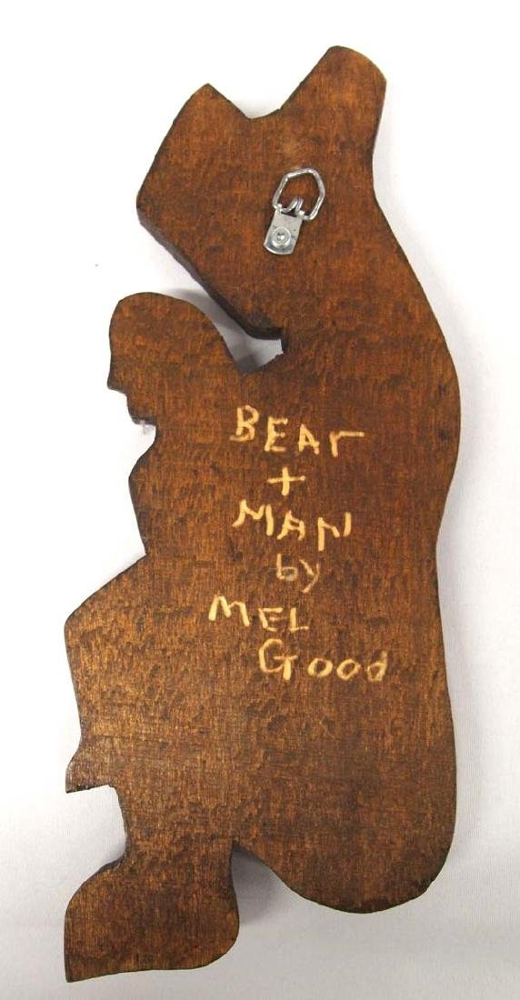 Northwest Coast Carved Cedar Plaque by Mel Good - 2