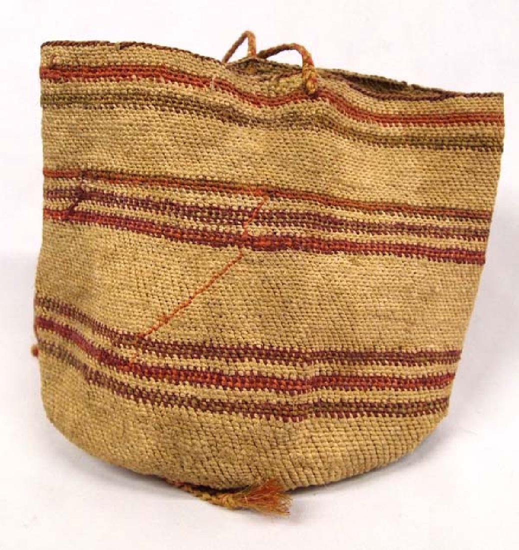 Antique Northwest Coast Washoe Sally Basketry Bag - 2