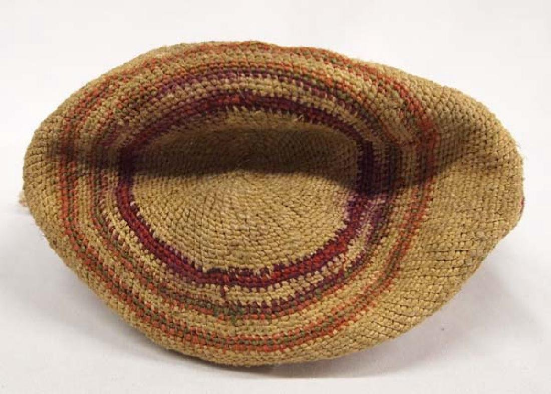 Antique Northwest Coast Washoe Sally Basketry Bag - 3