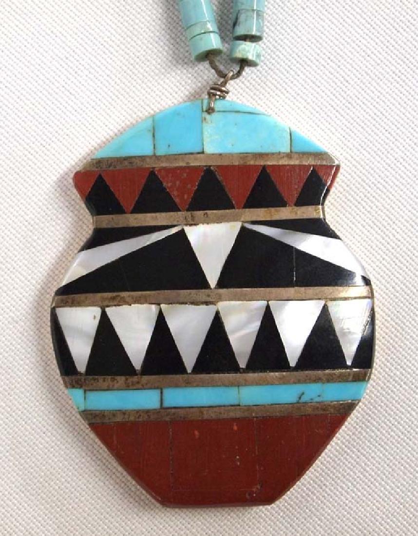 Santo Domingo Inlay Pendant Necklace