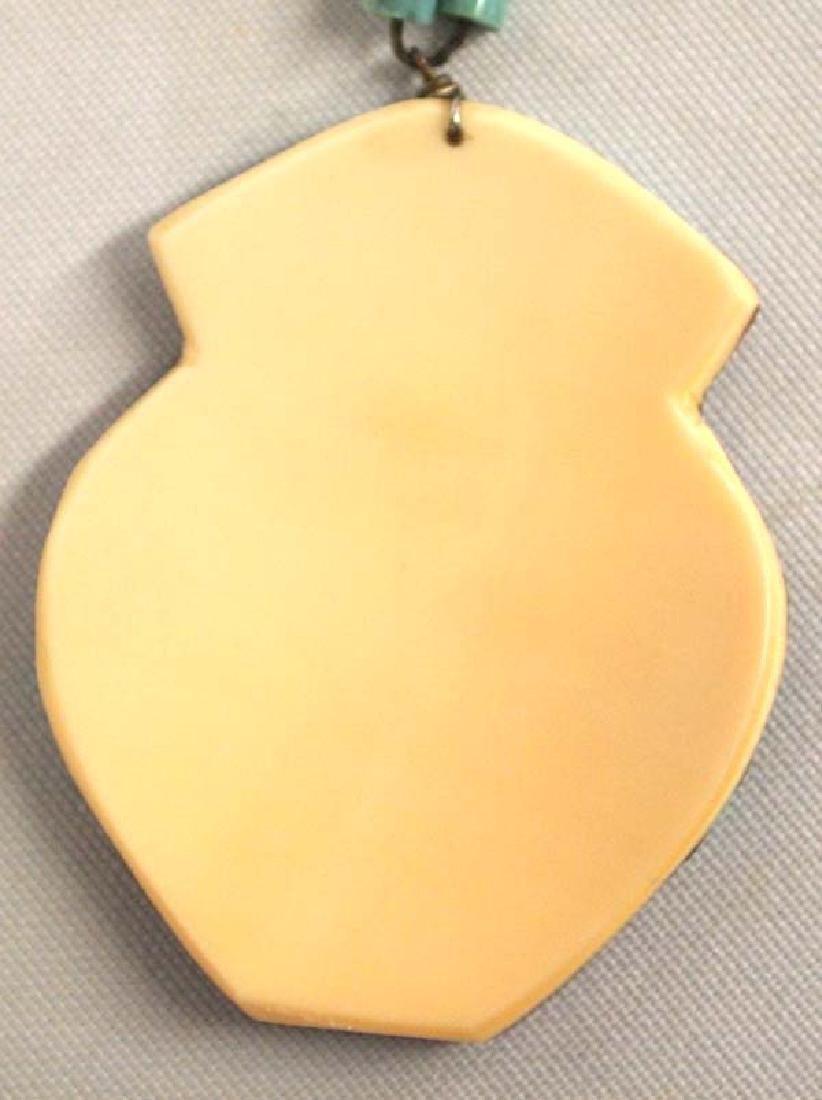 Santo Domingo Inlay Pendant Necklace - 4