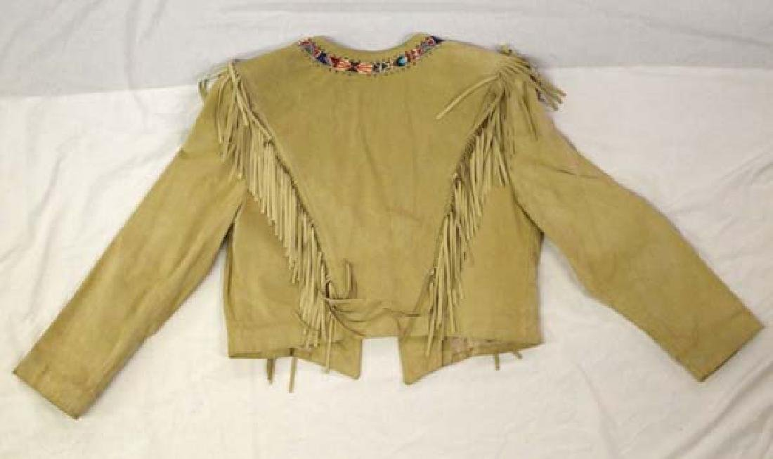 California Style Beaded Suede Cowgirl Jacket Sz 10 - 3