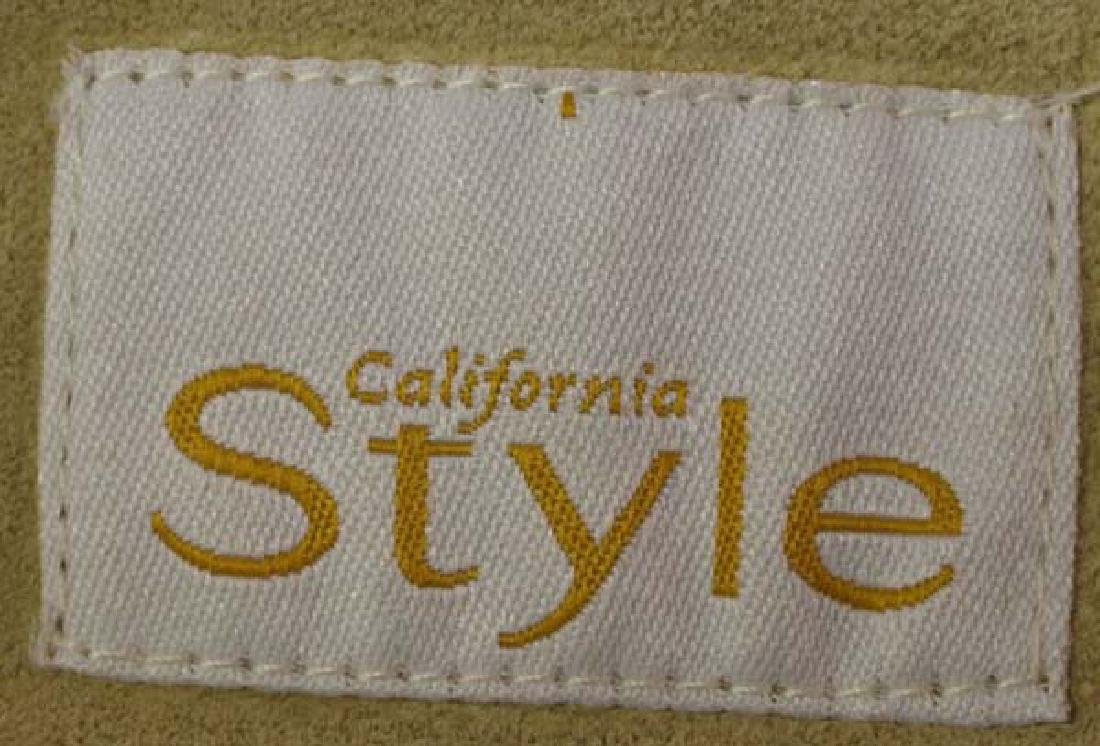 California Style Beaded Suede Cowgirl Jacket Sz 10 - 4