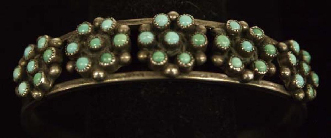 Native American Zuni Sterling Turquoise Bracelet