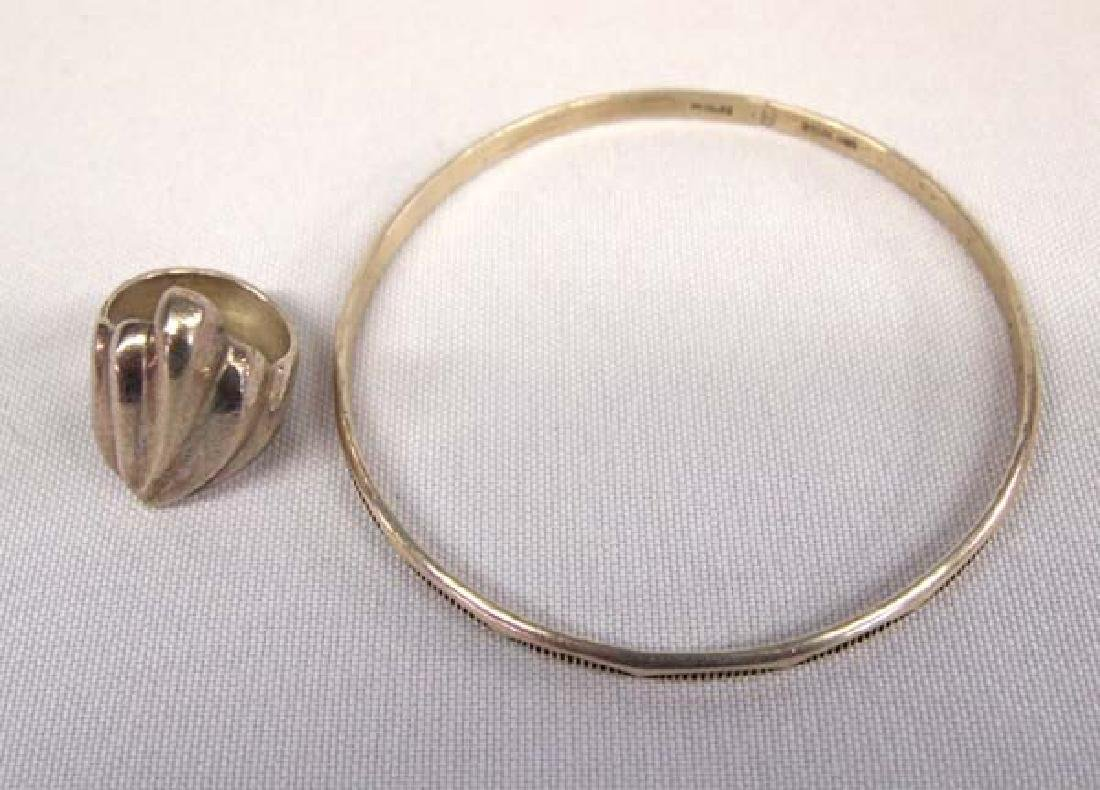 Santo Domingo Silver Bangle & Sterling Silver Ring