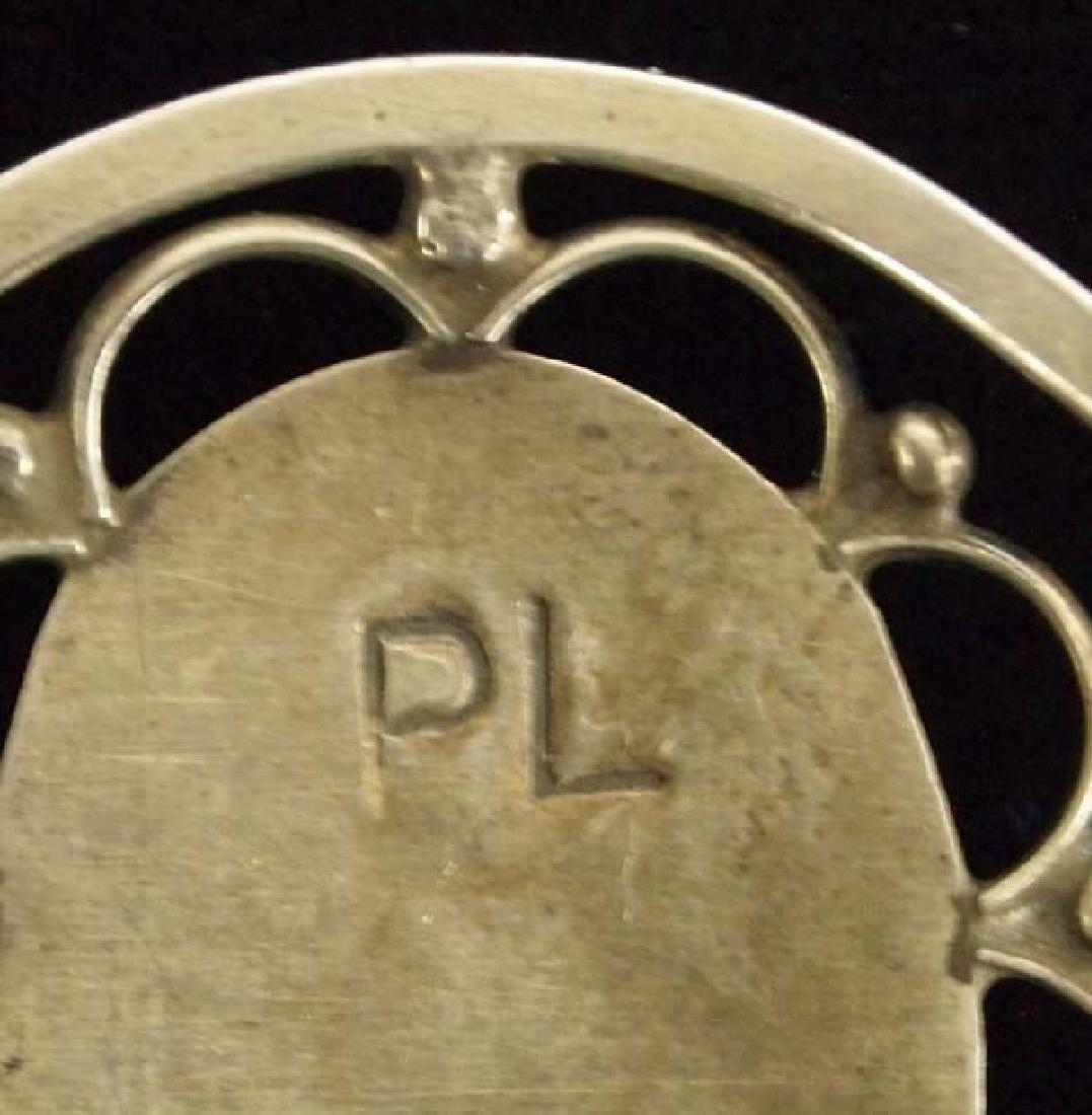 Zuni Old Pawn Sterling Turquoise Bracelet - 2