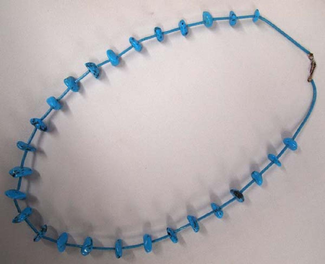 Native American Navajo Turquoise Necklace - 2